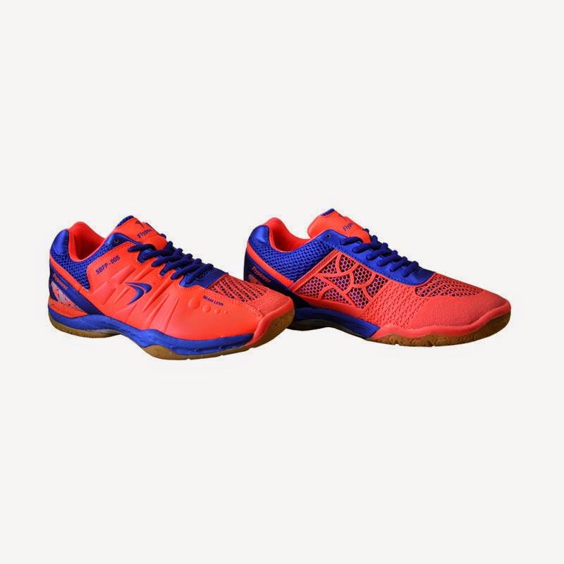 Flypower Prambanan Badminton Shoes Orange Blue Harga