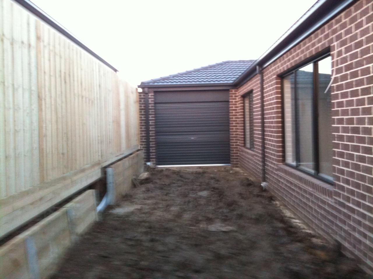960 #505A7B Steve & Mel's Henley 'Cooper' Build.: Garage Doors Installed pic Garage Doors Installed 36811280