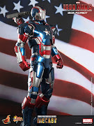. Limited Edition Collectible FigurineIron Patriot (Movie Masterpiece . (im )