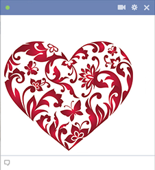 Floral heart for Facebook