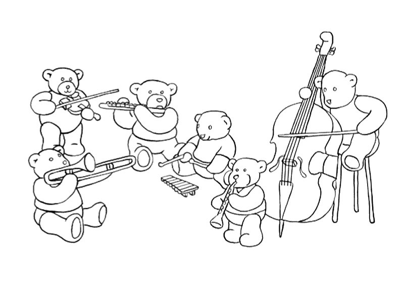 free music instrument coloring pages - photo#14