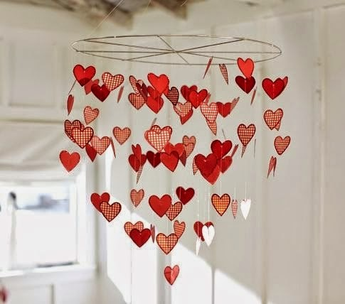 Valentine decorations for interiors for Heart decoration ideas