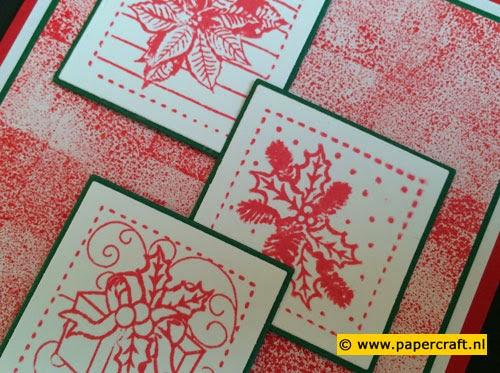 Stempelen met Distress inkt op Stempelblok
