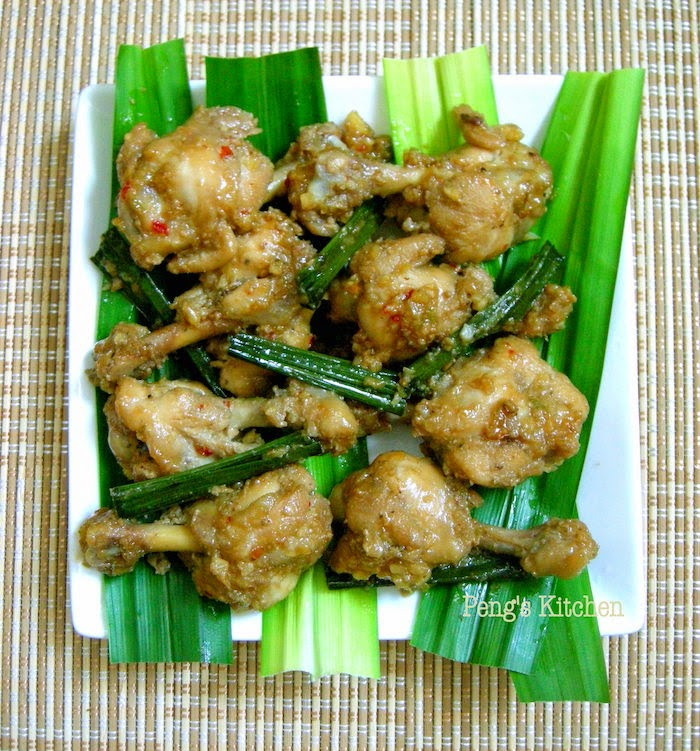 Peng's Kitchen: Stir-fry Pandan Chicken
