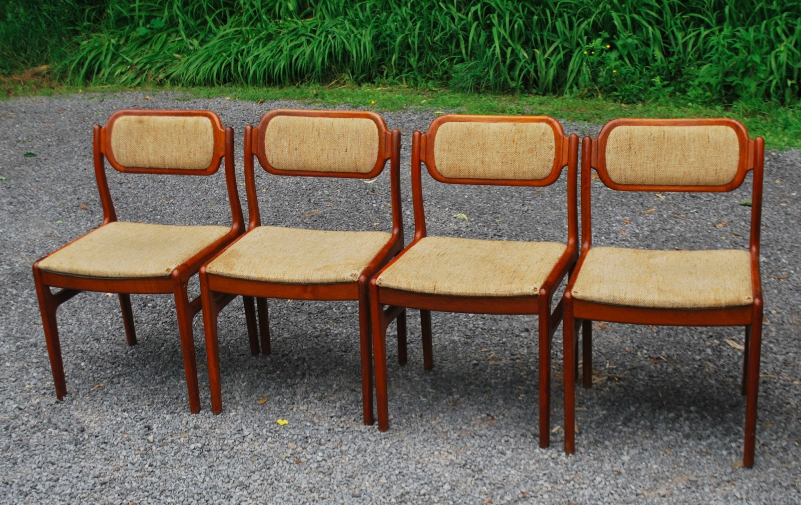 D Scan Teak Dining Chairs