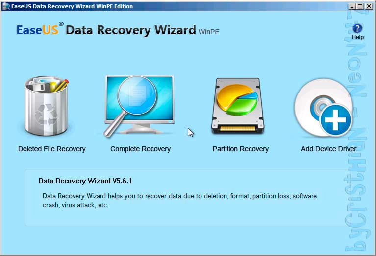 EASEUS Data Recovery Wizard WinPE Edition V5 6 1 Retail FOSI