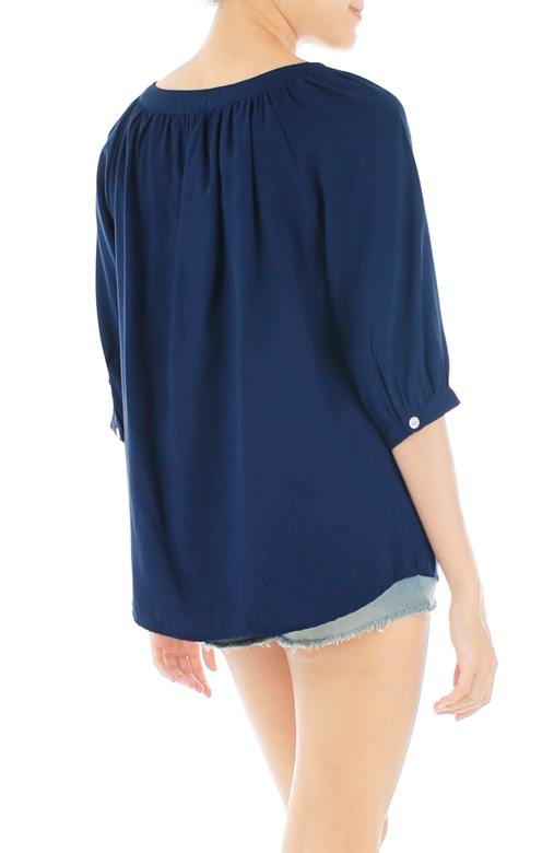 Sunday Afternoon Blouse – Dark Blue