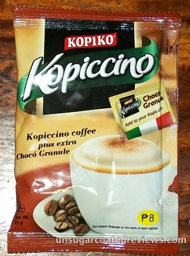 Kopiko Kopiccino cappuccino instant coffee with granules