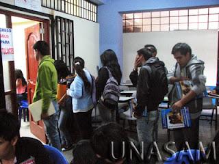 UNASAM Ingresantes Universidad Nacional Santiago Antunez de Mayolo HUARAZ UNASAM domingo 12 de Octubre