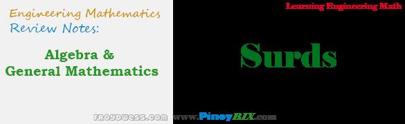 Algebra and General Mathematics: Surds