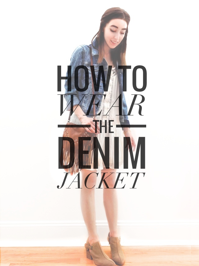 sorelle in style: how to wear: the denim jacket