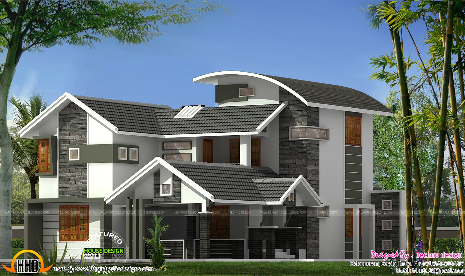4 bedroom house in 2100 square feet kerala home design for 2100 sf house plans