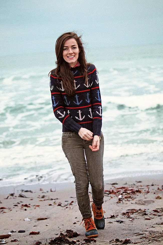 Love the sweater. And the boots of course.