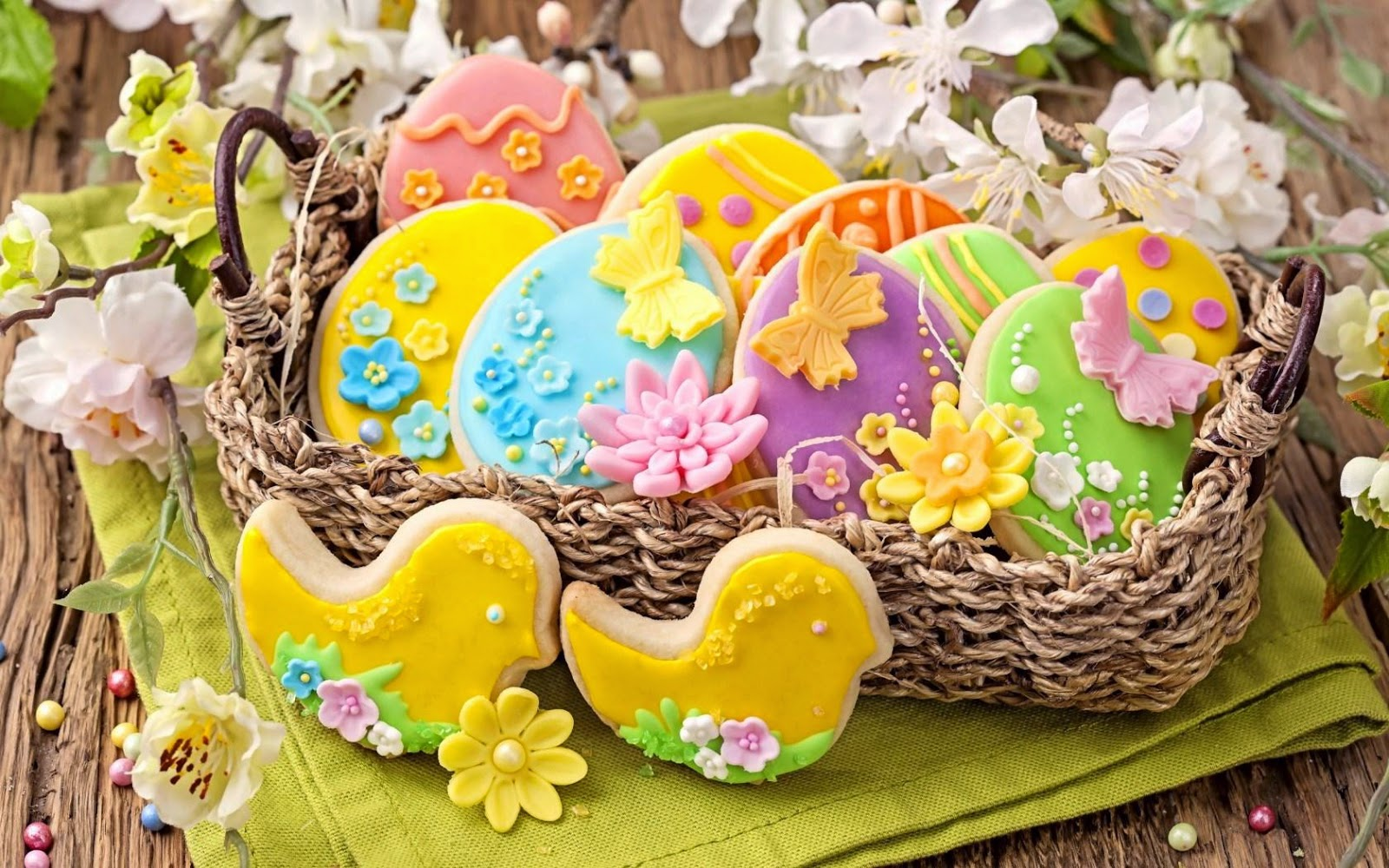 HD Holiday Eggs Easter Cookies Wallpapers - 3D HD Wallpapers