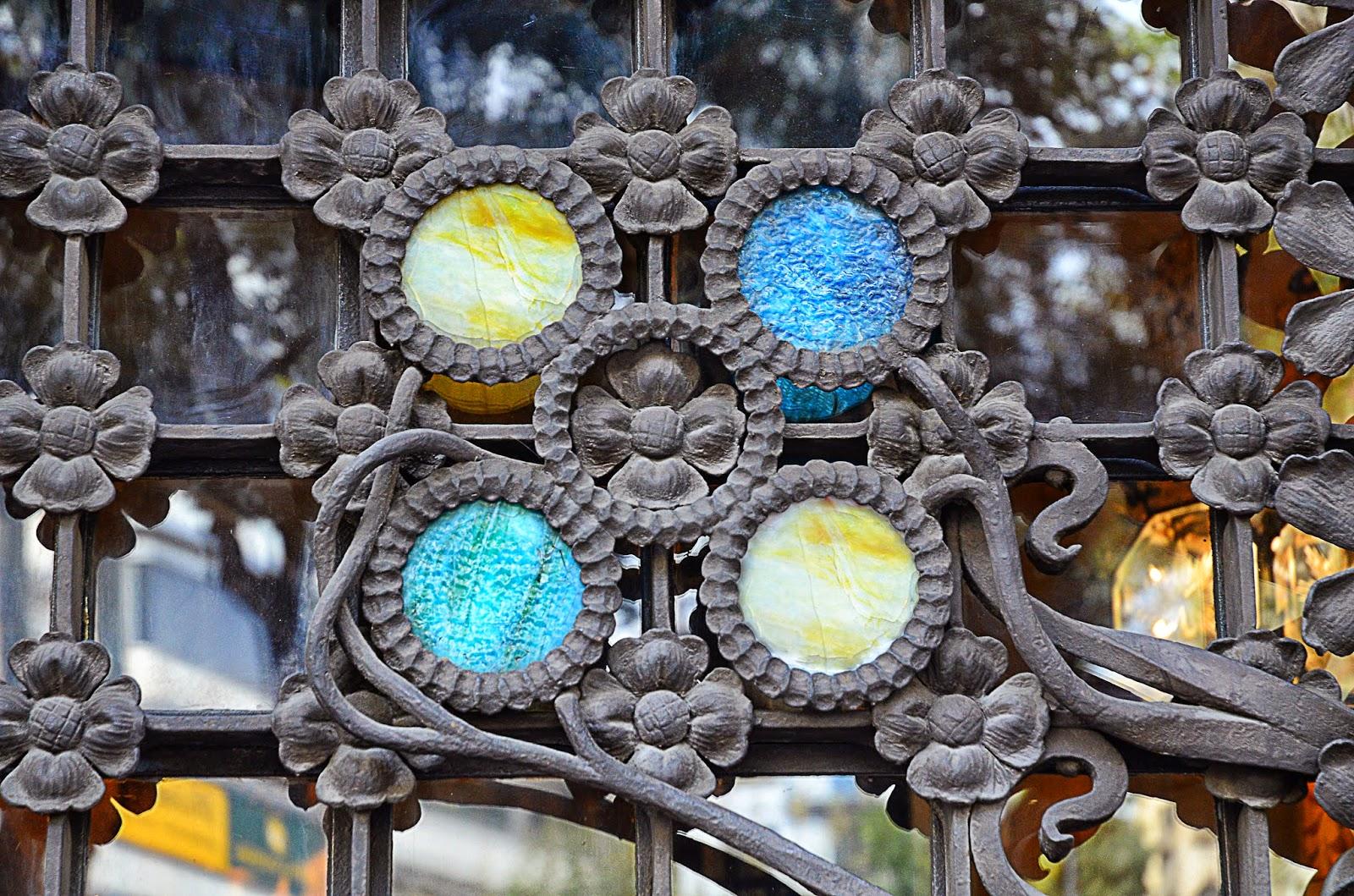 Ironwork door, Palau Baro de Quadras