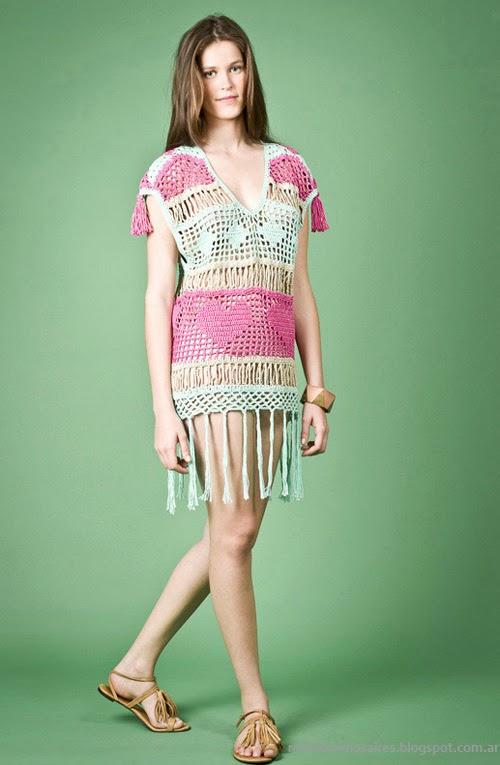 Moda Tejidos verano 2014. Agostina Bianchi primavera verano 2014 sweaters.