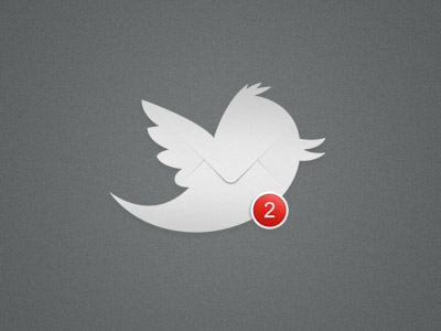 grey twitter counter icon
