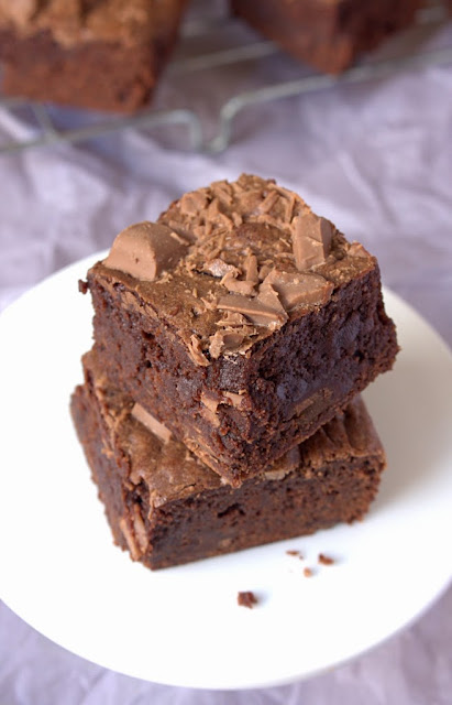 Baileys Luxe Whisky brownies - ultra gooey and full of chocolate
