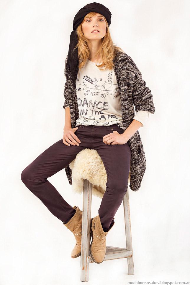 Sacos tejidos otoño invierno 2015 moda otoño invierno 2015.