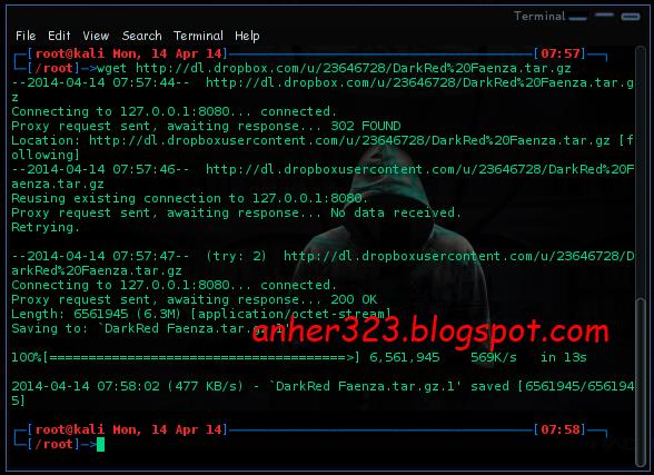 wget http://dl.dropbox.com/u/23646728/DarkRed%20Faenza.tar.gz