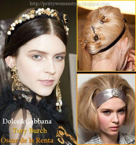 прически с аксесоари за коса есен-зима 2013