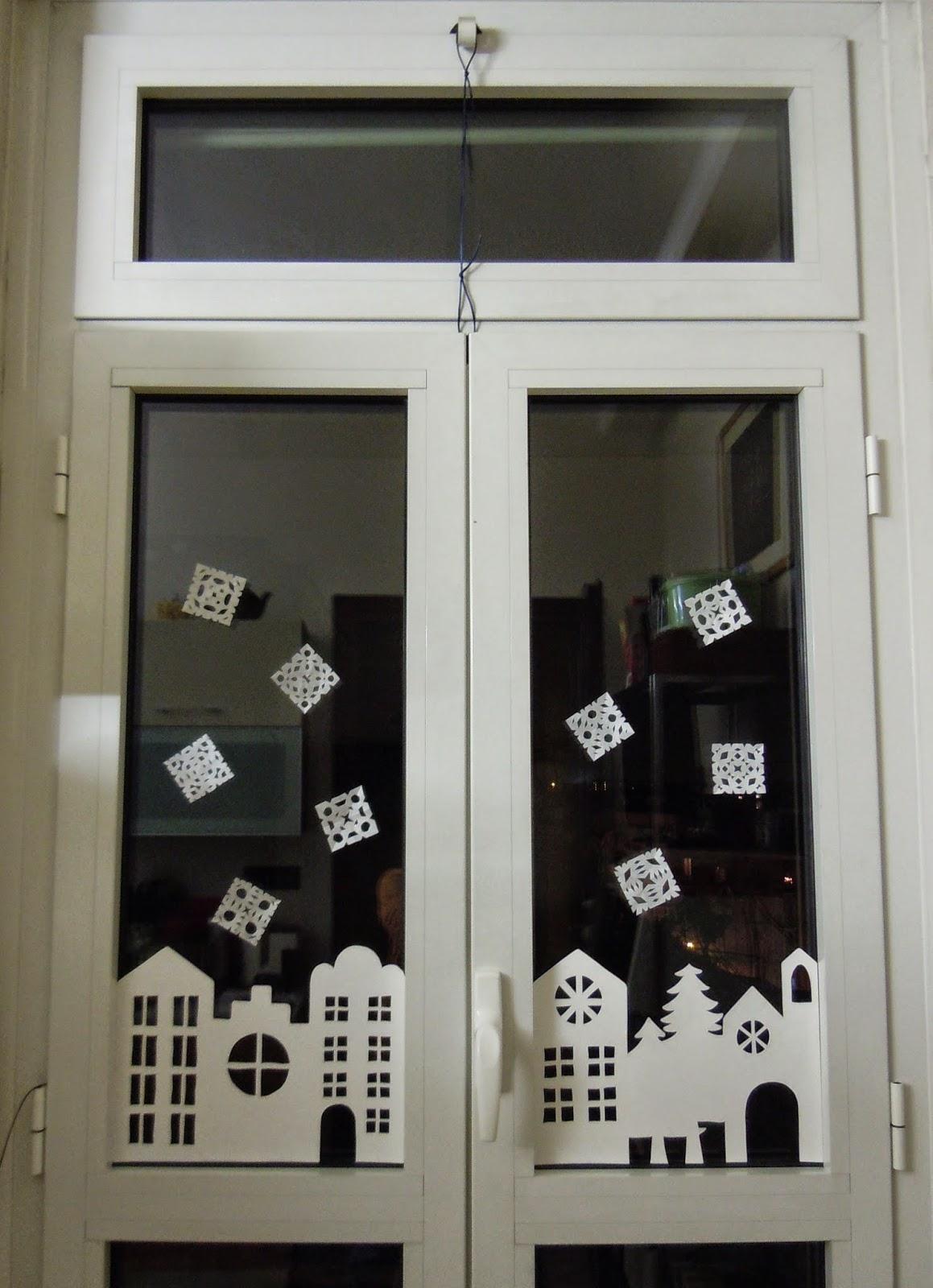 Gioka con leo addobbo natalizio per finestre - Addobbare le finestre per natale ...