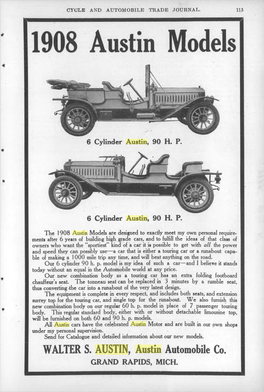 1000 images about austin automobile company on pinterest for Grand rapids motor car
