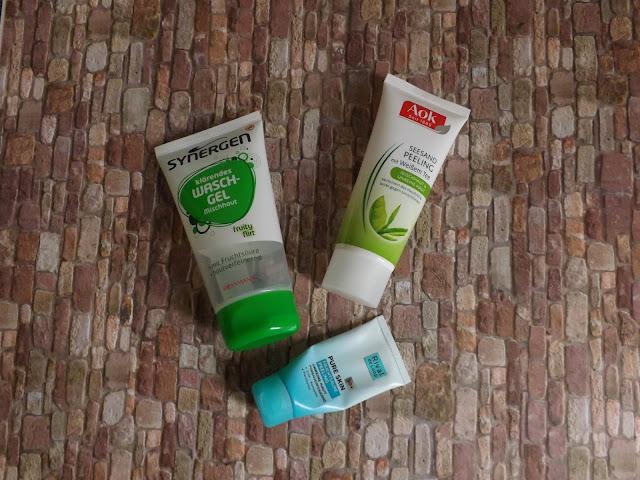 Synergen - klärendes Waschgel, Aok - Seesand Peeling, Rival de Loop - Pure Skin Fruchtsäure Peeling