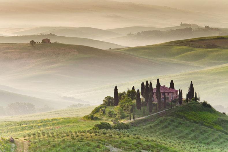 Imágen del dia: Niebla de la mañana en la Toscana