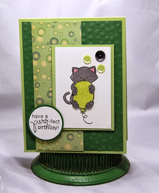 Cat Birthday Card by Donna Idlet for Newton's Nook Designs inky Paws Challenge