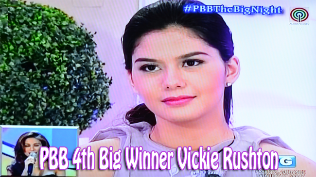 PBB 4th Big Winner Vickie Rushton