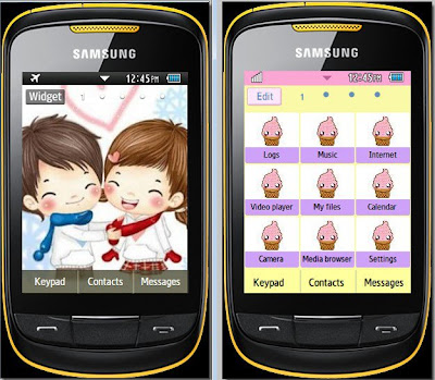Cute Lovers Samsung Corby 2