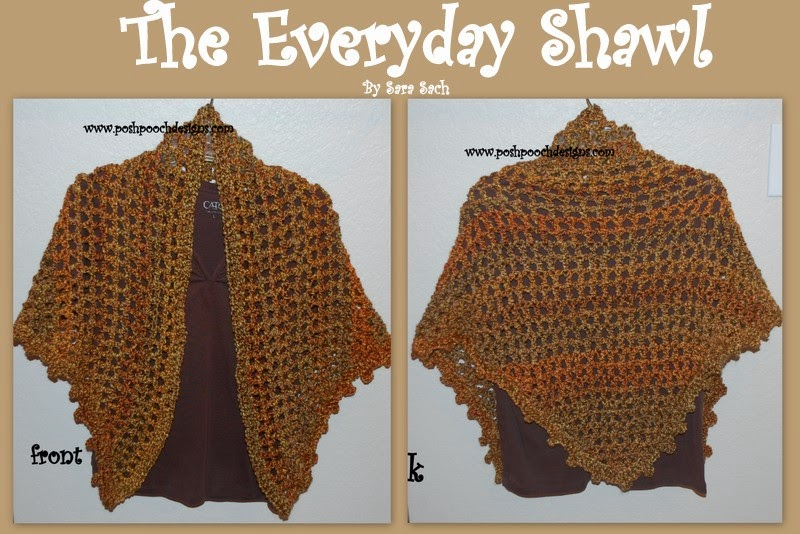 Homespun Yarn Crochet Patterns : ... Dog Clothes: The Everyday Shawl Crochet Pattern Picture Tutorial