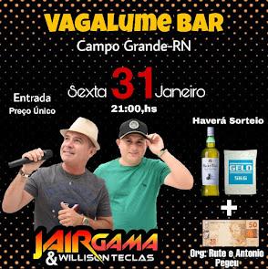 É nesta Sexta (31) Jair Gama & Willison Teclas no Vagalume Bar em Campo Grande