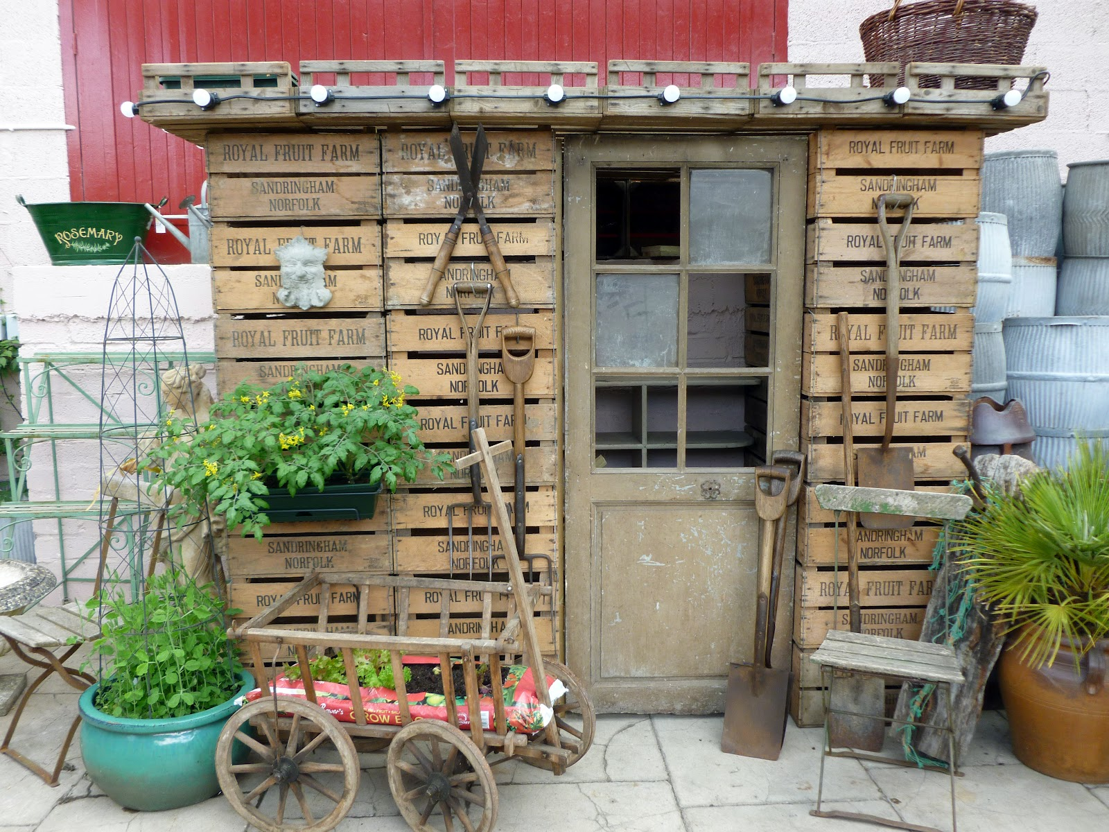 The Drill Hall Emporium: wonderful recycled English potting shed