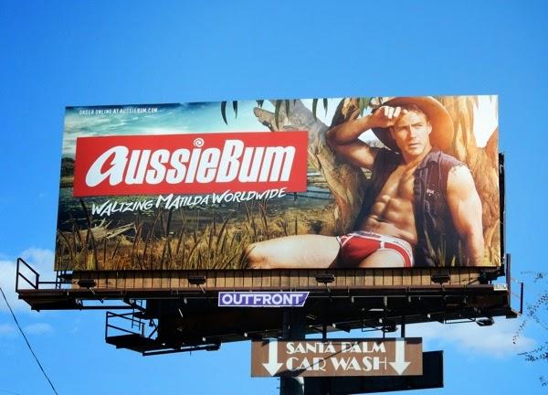 AussieBum Waltzing Matilda underwear billboard