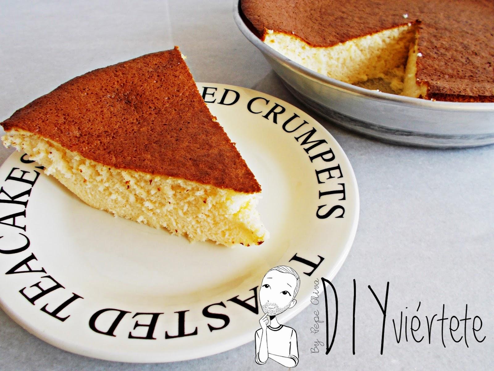 Receta-cocina-postre-repostería-bizcocho-soft cotton cake-tarta de queso japonesa-