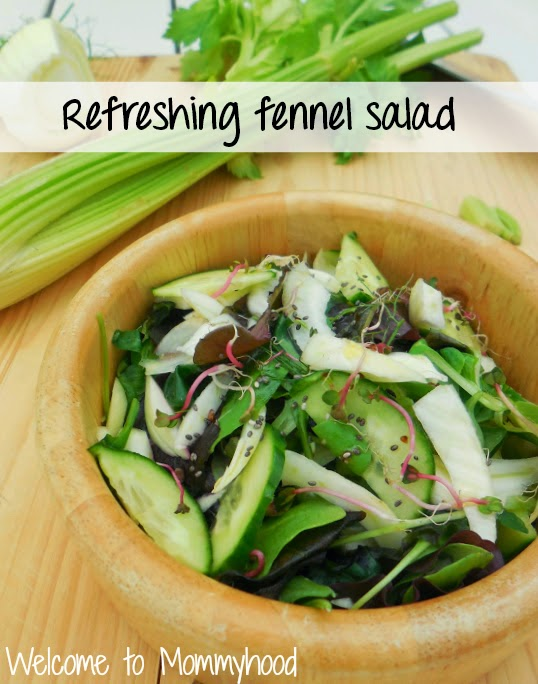 Healthy salad recipes: fennel and cucumber salad #paleo #salad #yummy
