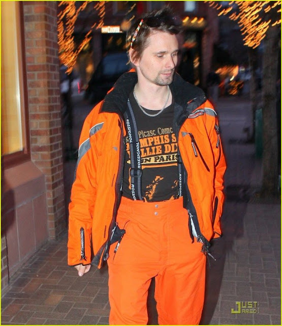 Matt Bellamy of Muse wearing a pair of Jenny Dayco beaded sunglasses
