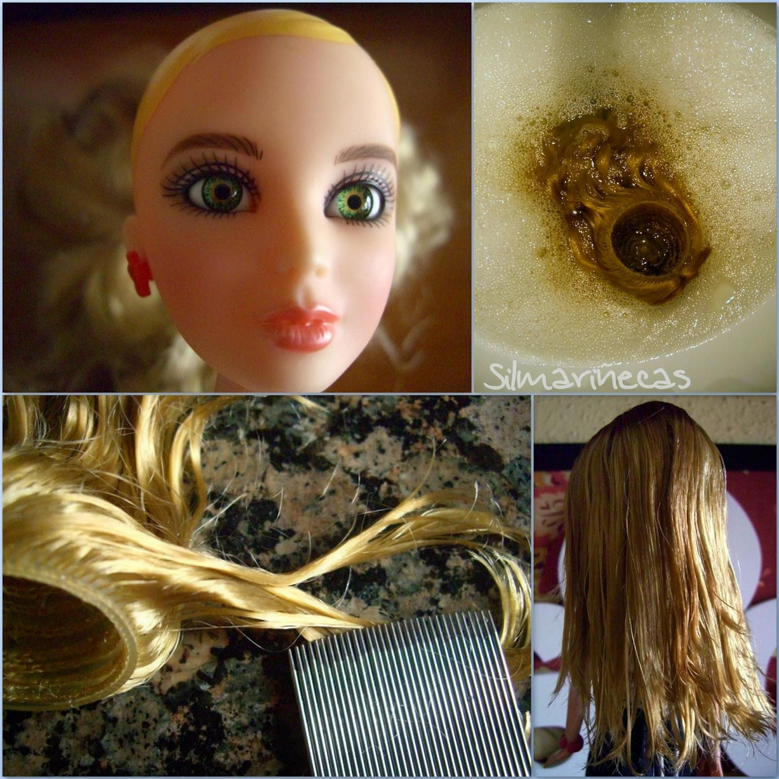 cómo alisar o rizar el pelo de las muñecas-