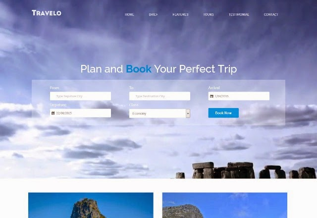 Travelo - Flat Travel Guide Web Template
