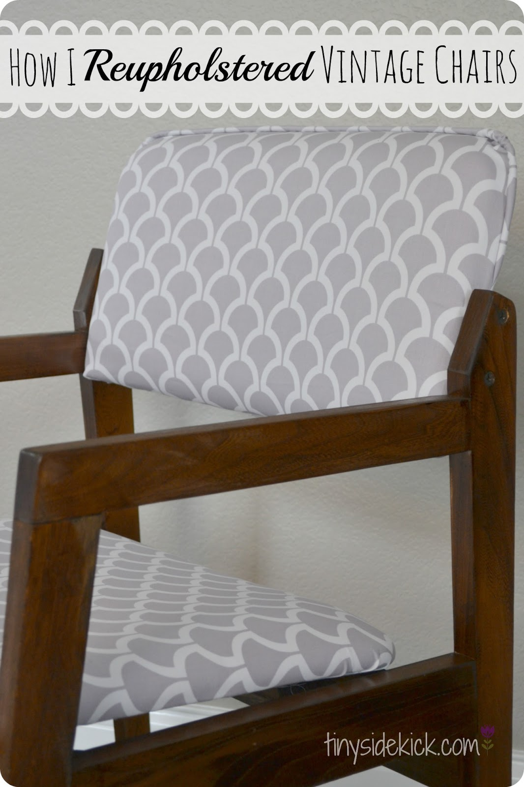 Reupholstering Vintage Dining Chairs {Tiny Sidekick ...