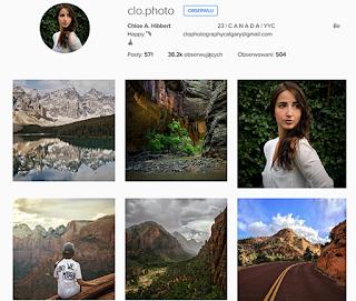 Chloe Hibbert, ciekawe profile podróżnicze