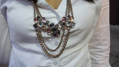Pink Diamond Statement Necklace