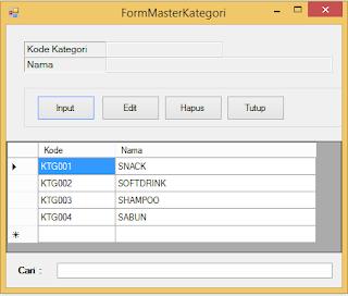Cara Membuat Form Kategori Barang Aplikasi Kasir VB NET 2013