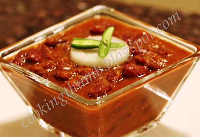Cooking Thumb: Punjabi Rajma Masala (Red Kidney Beans Curry)