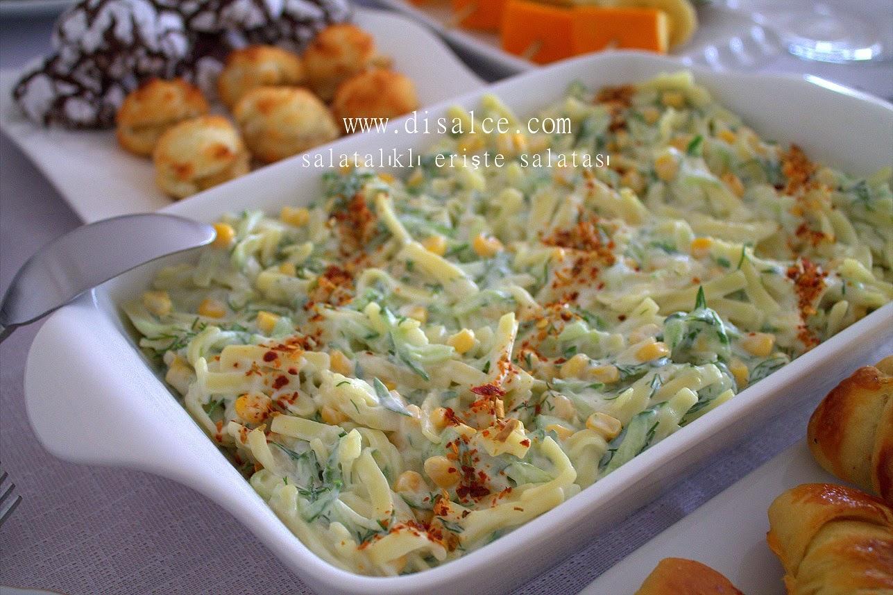 erişte salatası mısırlı
