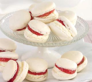 Strawberries and Cream Macarons