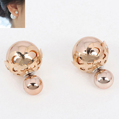 Aksesoris: Anting Crown Gold Pearl Dior (AHG-391)