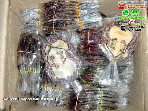 Souvenir Kipas Kulit Wayang Kulit Pancoran